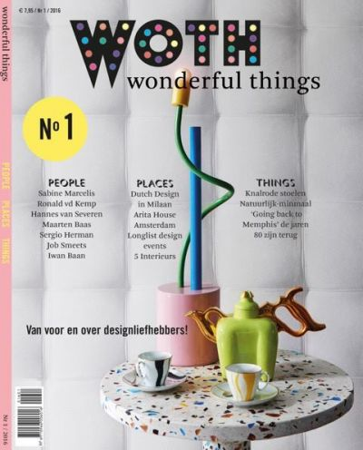 On the cover of Woth Magazine no 1